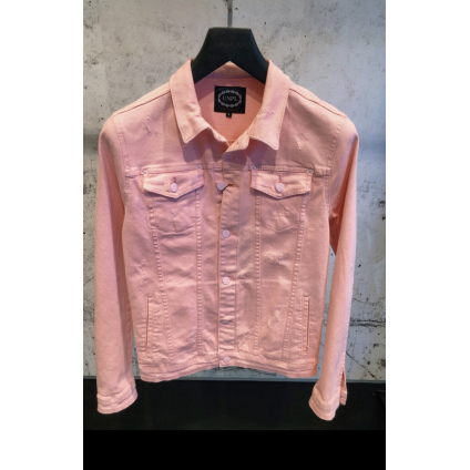 Veste jeans up rose