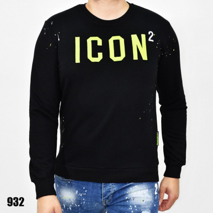 Pull Icon noir broderie...