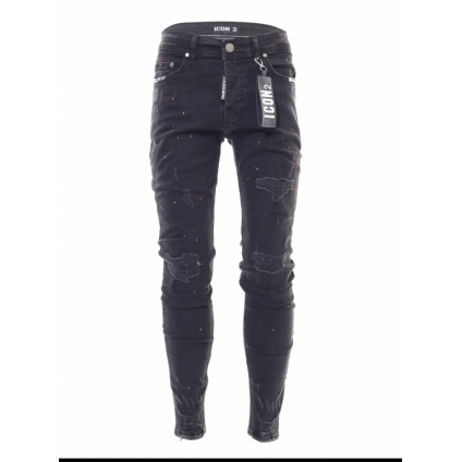 Jeans ICON 2 B noir tache