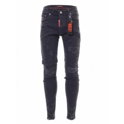 Jeans ICON 2 B noir/rouge