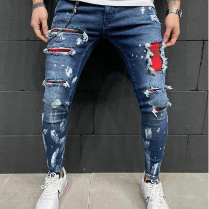 Jeans 2Y PREMIUM bleu rouge