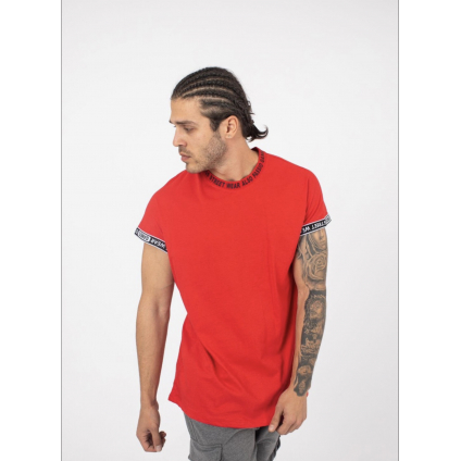 T shirt palm rouge