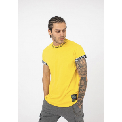T shirt palm jaune