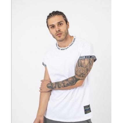 T shirt palm blanc