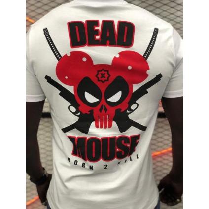 T shirt DEAD blanc